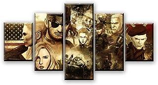 chgznb Cuadro sobre Lienzo Impresiones en Lienzo HD Pictures Home Decorative 5 Piezas Juego Metal Gear Solid Snake Painting Wall Art Poster Impresiones en Lienzo