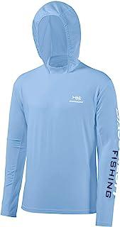 Bassdash UPF 50+ Men's UV Sun Protection Long Sleeve Performance Fishing Hoodie Hooded Shirts