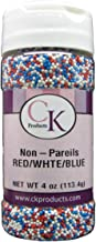 CK Products 4 Ounce Non Pareils Bottle Red, White & Blue