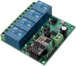 WINGONEER® 12V ESP8266 Four Ways WiFi Relay IOT Smart Home Cepphone APP Remote Control Switch