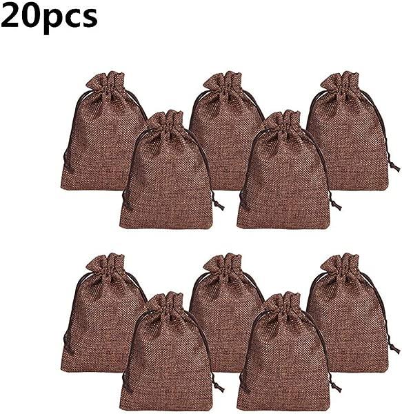 AC8grg 20Pcs Set 9 5x13 5cm Linen Drawstring Storage Bags For Diwali Candy