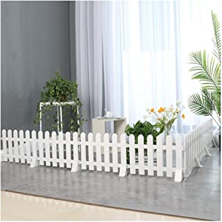 ZHANWEI Garden Fence Picket Fencing Plastic Rail White, Indoor Outdoor Lawn Patio Protective Guard Edging Decor, 5 Sizes (...