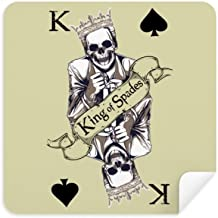 DIYthinker Gambling Utensils Playing Cards Pattern Glasses Cleaning Cloth Phone Screen Cleaner Suede Fabric 2Pcs