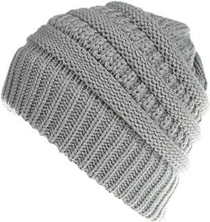 Men Women Cute Trend Solid Color Warm Cap Wool Knit Ski Beanie Skull Slouchy Hat Unisex