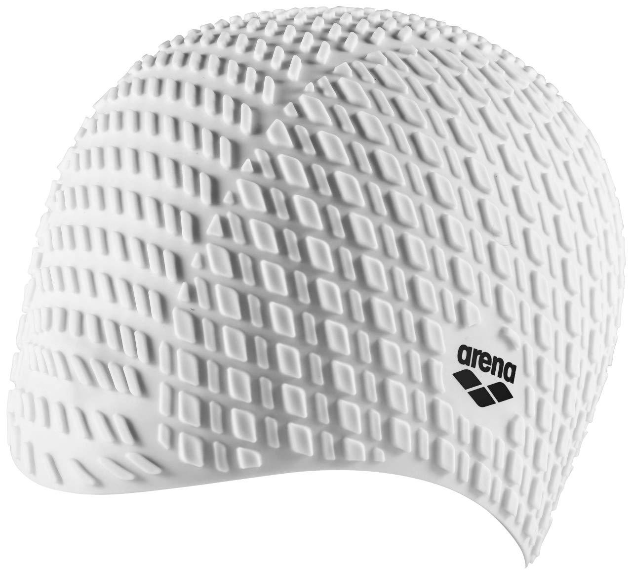 ARENA Unisex – Erwachsene Badekappe Bonnet Silicone, White, one Size