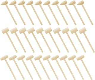 HEALLILY 30pcs Mini Wooden Hammers Mallet Pounding Toy Educational Toy for Kids Boys Girls