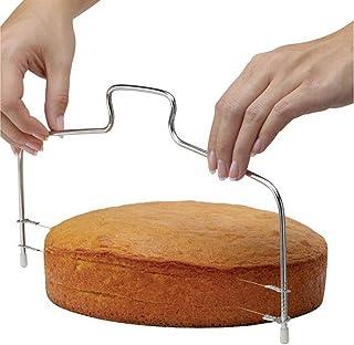 اداة قابلة للتعديل لتقطيع الكيك الصغير بسلكين، قطاعة لتسوية الجزء العلوي من طبقات الكيك، عبارة عن اداة خبز احترافية بسلكين...