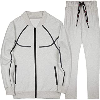 Howely Men's Relaxed 2-Piece Baseball Zip Sports Sport Sweat Suit Set