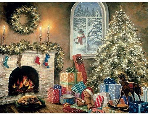 JHEU Puzzle 1000 Teile Holzpuzzle Puzzles & Puzzles Tangram-Puzzle, hölzernes Tangram-Puzzle, die Brillanz im Dunkeln ist Keine Kreatur im Heiligabend-Weihnachtspuzzle
