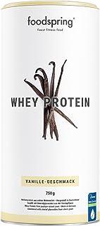 comprar comparacion foodspring Proteína Whey, Sabor Vainilla, 750g, 100% proteína de suero de leche, Proteína en polvo para el desarrollo musc...