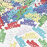 Tolles partyaccessoire amscan 9900458 14 g Happy Birthday metallic-Konfetti