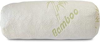 Premium Bamboo Bolster Pillow for Bed Shredded Memory Foam Pillow Cervical Support for Legs Round Neck Pillow for Neck Pai...