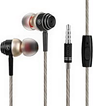Everycom X1 Secure Fit Dj Edition Earphones With In-Line Microphone & Noise Isolating HD Audio Experience For All 3.5mm Jack Devices (Black)