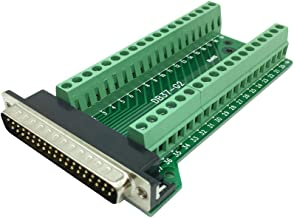 Sysly DB37 Male Female 37pin Port Adapter Connector Header Terminal Breakout PCB Board 2 Row Riveting Tooth (Male)