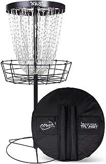 MVP Disc Sports Black Hole Pro 24 Chain Disc Golf Basket with Transit Bag
