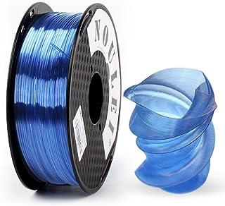 Noulei Filament PETG pour imprimante 3D 1.75 mm, Strong 3D Filament, (Bleu clair translucide 1kg 2.2lbs)