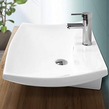 ARKITMOBEL 305950O - Lavabo Ceramica Color Blanco, Pila lavamanos ...