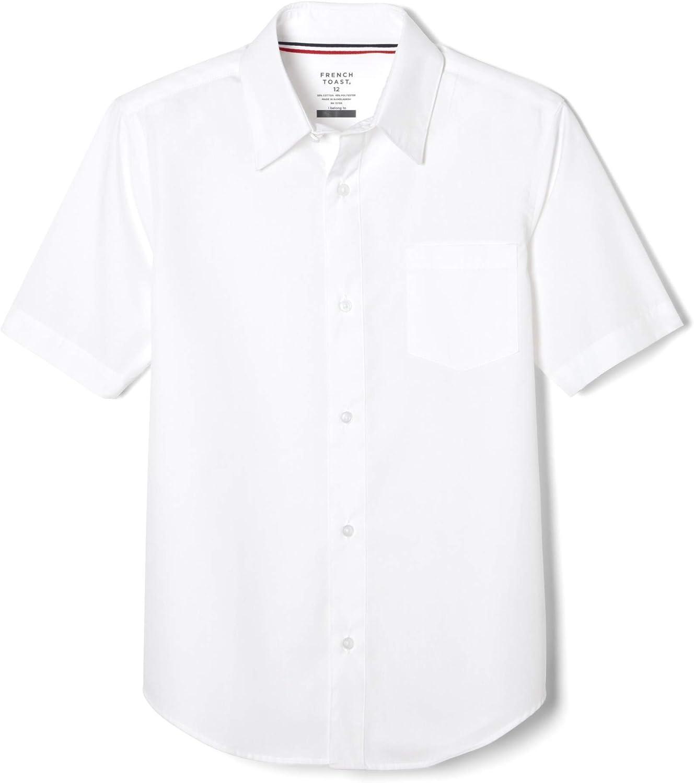 French Toast Men's Short Sleeve Classic Dress Shirt