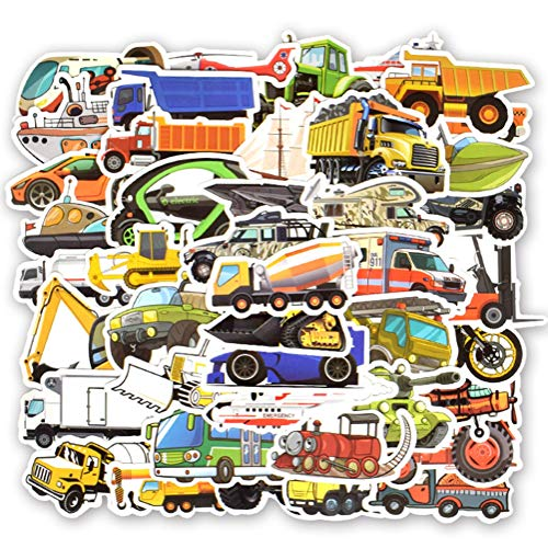 QIANGWEI 50 Auto Stickers Bus Truck Ambulance Anime Sticker Diy koffer Laptop Skateboard Kids
