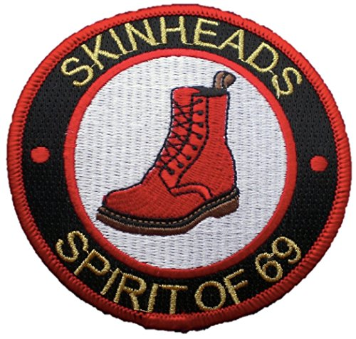 Skinhead Spirit Of 69 Embroidered Patch (Red/White/Black)