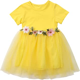 f83577ca10f Mornbaby Toddler Kids Baby Girls Knitted Tulle Cap Tutu Dresses Jersey Dress  Outfit