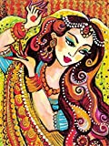 DIY- Retrato de niña Religiosa Pintar por Numeros Adultos DIY Arte De La Pared Digital Pintura De La Lona De Navidad Regalo Decoración para El Hogar 30x45cm(sin Marco)