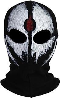 Innturt Fabric Ghost Mask Balaclava Skull Hood Red & White