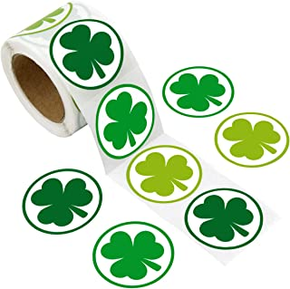"""ceiba tree St. Patrick's Day Shamrock Stickers 3 Green Colors for School/ Party/ Parade 200 Pcs 1 1/2"""""""