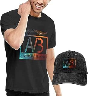 GabrielR Men's Armin Van Buuren Tee Washed Denim Baseball Dad Caps Black