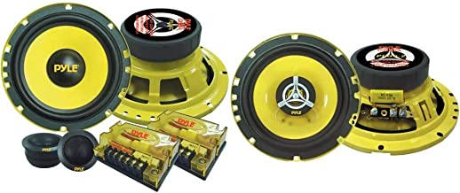 """$57 » 2Way Custom Component Speaker System 6.5"""" 400 Watt Component with Electroplated Steel Basket & Car Two Way Speaker System ..."""