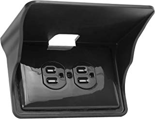Storage Theory | Horizontal Outlet Power Perch | Ultimate Outlet Shelf | Easy Installation, No Additional Hardware Required | Holds Up to 10lbs | Black Color | Single Shelf