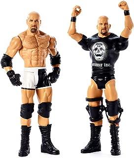 WWE Stone Cold Steve Austin & Goldberg Mattel Action Figure 2-Pack Black