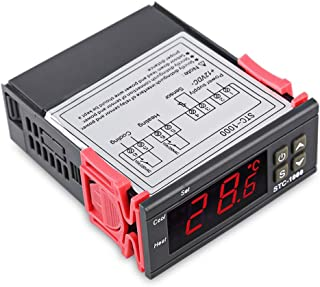 Digital Temperature Controller, Bysameyee Incubator Thermostat Centigrade 10A 2 Relays Sensor with Heating Cooling Mode