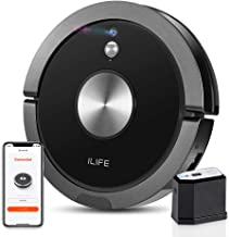ILIFE A9 Robot Vacuum Cleaner, Wi-Fi Connected Mapping and Navigation, Sustained Strong Suction, Self-Adjustable Roller Brush, Slim, Quiet, Compatible with Alexa,Cleans Hard Floor to Low-Pile Carpet