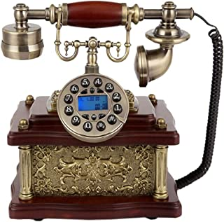 Retro Vintage Telephone, Antique Style Wired Landline Phone With Button Dial Home And Office Decor Retro Landline