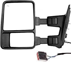 SCITOO Ford Towing Mirror Driver Side Rear View Mirror for 2003-2007 Ford F-250 F-350 F-450 F-550 Super Duty with Manual Control Manual Telescoping Manual Folding and Turn Signal Light Feature