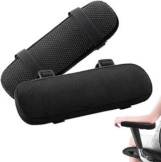 RANRANHOME Armstödkudde, minnesskum hem/kontorsstol armskydd bekväm datorspel stol kudde avtagbar och tvättbar armbågsstöd...