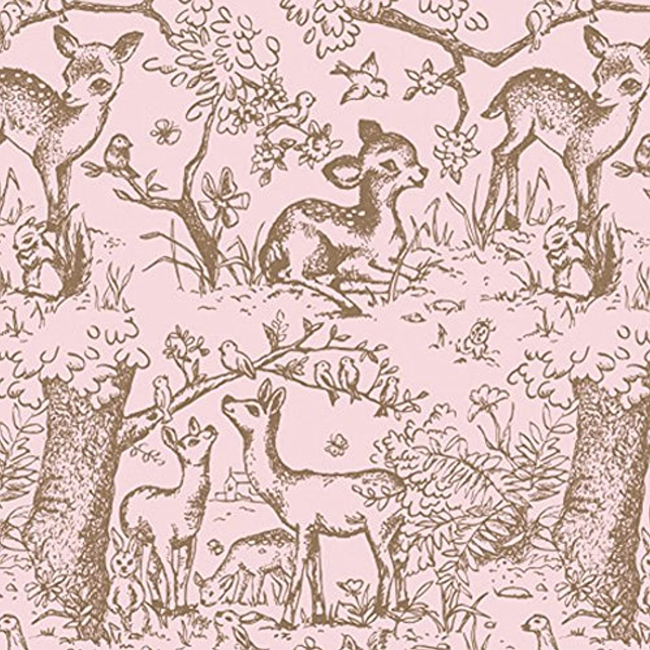 Pink Lullaby Meadow Toile Tissue Paper - 20in. X 30in. Sheets (24)