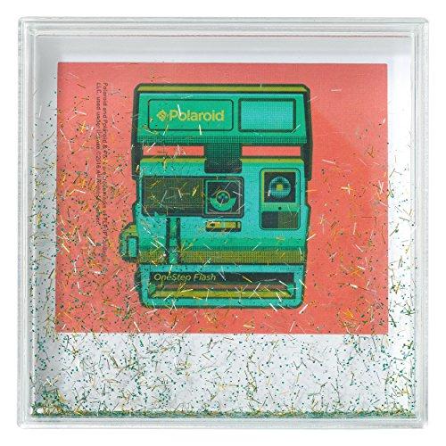 Polaroid Photo Glitter Frame, 4x4, Gold/Green/Silver