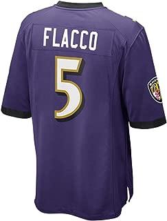 FAMWY Men's_Women's_Youth_Joe_Flacco_#5_Purple_Sportswears_Football_Tracksuits_Jersey