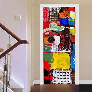 MISSSIXTY 3D Door Wall Mural Wallpaper Stickers Vinyl Removable Decals for Home Decoration 30.3
