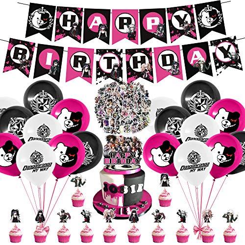 141 Pcs Danganronpa Party Decorations Set, Anime Theme Birthday Supplies Danganronpa Stickers for Danganronpa Anime Party Supplies Decor