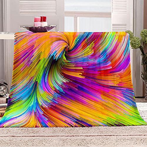 Ejiawj Mantas para Sofa Baratas Impresión de Remolino de Colores 200x200 cm...