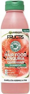 Garnier Fructis Hair Food Anguria Rivitalizzante, Shampoo per Capelli Fini, 96% di Ingredienti di Origine Naturale, Senza ...