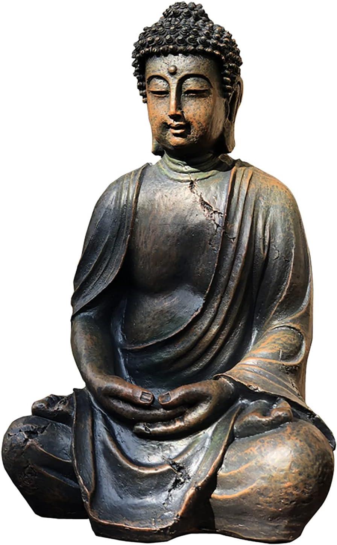 ZHXQ SEAL limited San Jose Mall product Garden Sculpture Meditating Buddha Tall Vintage 14