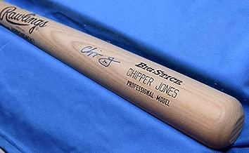 CHIPPER JONES PSA DNA Coa Autograph Big Stick Bat Signed