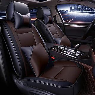 A4 RS4 for Audi A3 Q5 Q3 A8 A6 Farbe : Beige Wasserdichter PU Leder Autositzbezug Komplettsatz A5