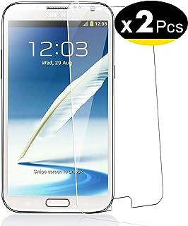NEW'C 2 Unidades, Protector de Pantalla para Samsung Galaxy Note 2, Vidrio Cristal Templado