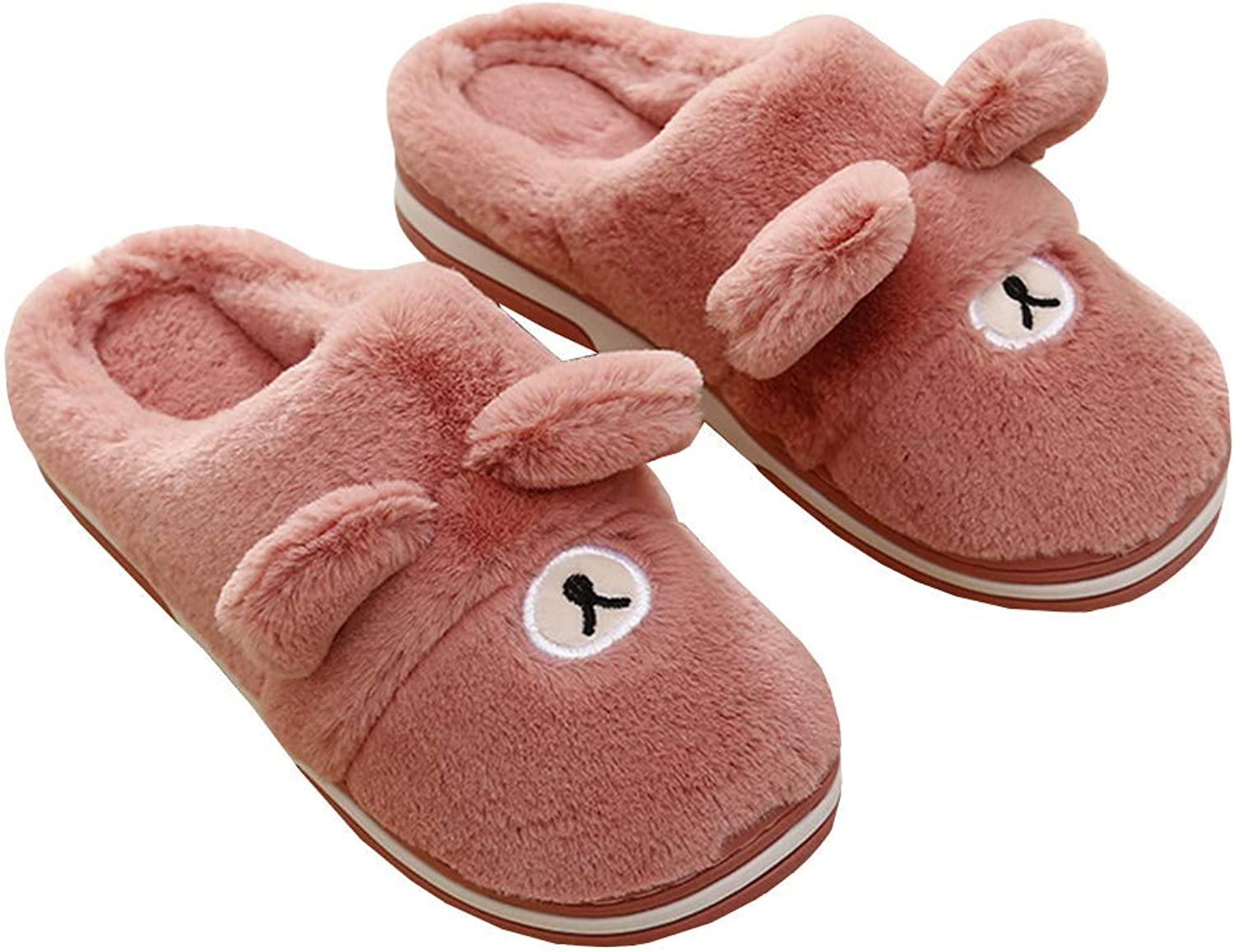Winter Keep Warm Slippers Bear Plush Unisex Flip Flop Indoor Bedroom Floor Couple Home Hairy Soft Cotton shoes