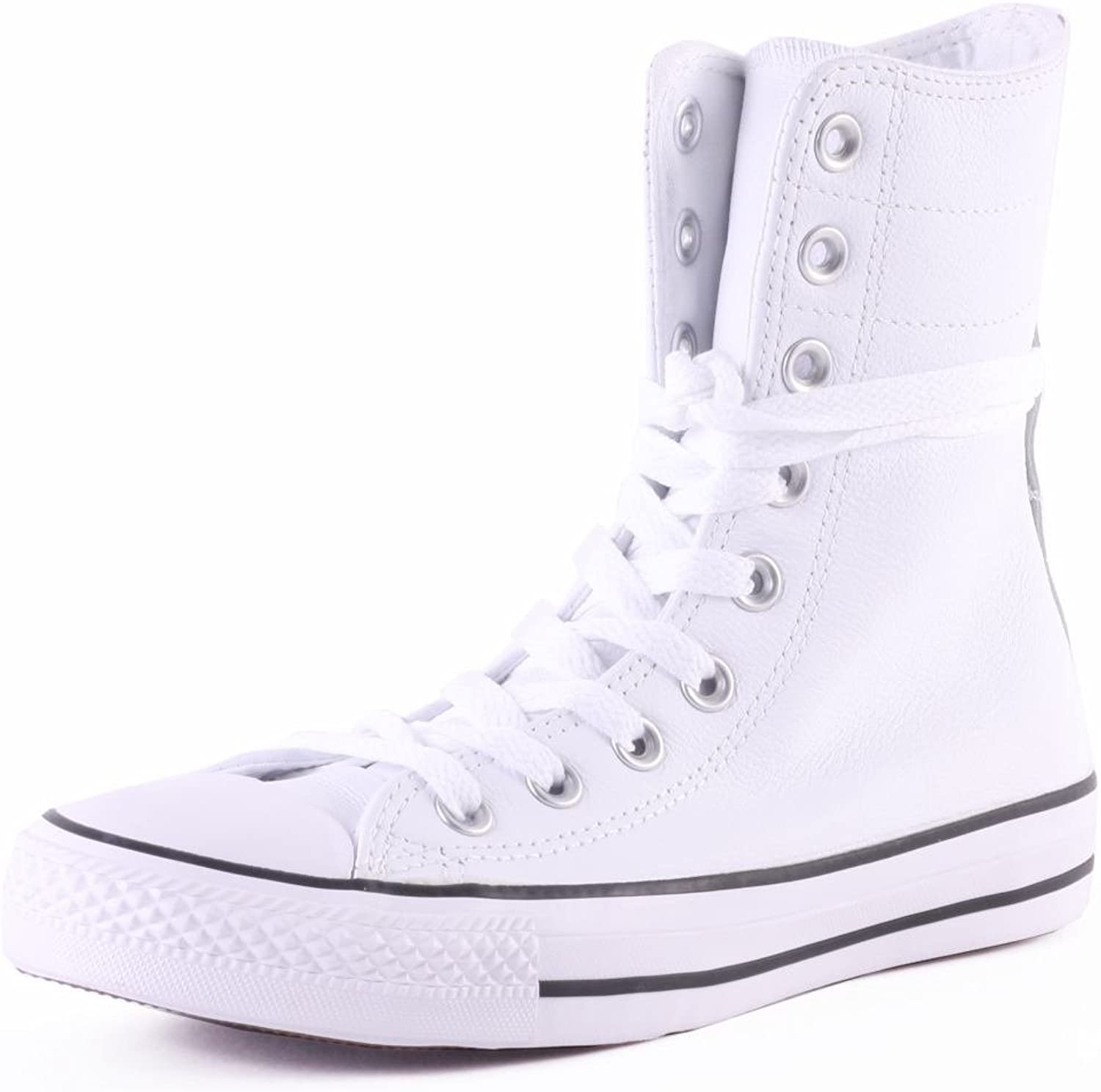 Chuck Taylor Women's HI-RISE White Leather Extra High Top